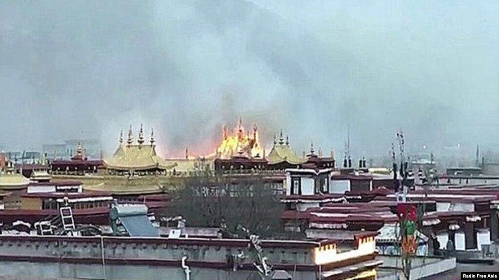 """""""中国性别歧视观察:西藏最神圣庙宇大昭寺发生大火 当局继续封锁消息"""""""