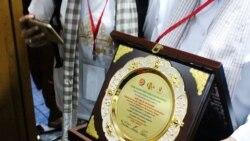 """အလိုေတာ္ျပည့္ဆရာေတာ္ """"Global Dhamma Peace Laureate Golden Award"""" ခ်ီးျမွင့္ခံရ"""