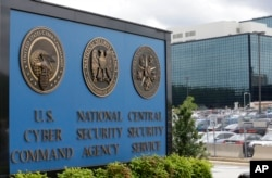 FILE - The National Security Agency (NSA) campus in Fort Meade, Md.