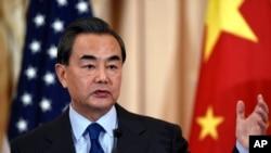 中國外交部長王毅在華盛頓訪問。