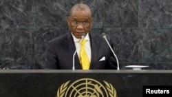 Umushikiranganji wa mbere w'igihugu ca Lesotho. Thomas Motsoahae Thabane