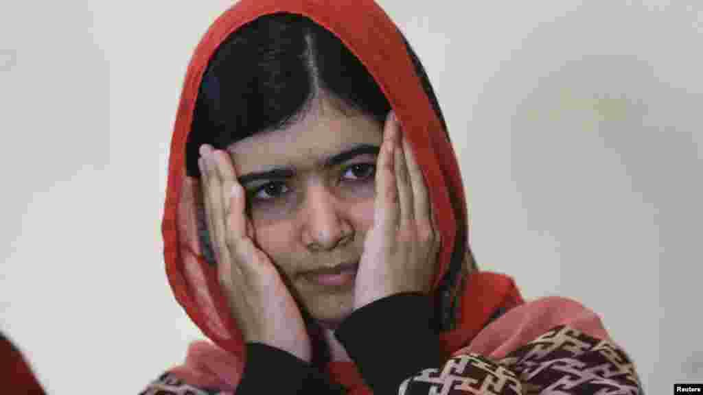 Malala Yousafzai a Abuja 13 ga Yuli, 2014.