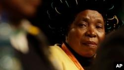 Nkosazana Dlamini-Zuma, l'ex femme de Jacob Zuma, donne une conférence à Johannesburg, en Afrique du Sud, le 5 juillet 2017.