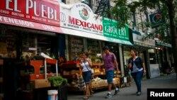 미국 뉴욕 주의 멕시칸 식료품점. (자료사진)