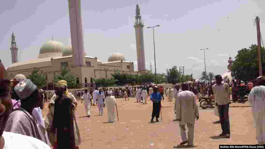 An nada Abubakar Shehu Abubakar a zaman sabon sarkin Gombe yau jumma'a 6 Yuni 2014.