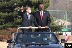 امریکی وزیر دفاع لائیڈ آسٹن اور جنوبی کوریا کے وزیر دفاع کی ملاقات کو اہم سجھا جا رہا ہے۔