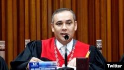 Maikel Moreno, presidente del Tribunal Supremo de Justicia de Venezuela, uno de los ocho funcionarios del TSJ sancionados por Estados Unidos.