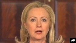 Ngoại trưởng Hillary Clinton loan báo chính phủ Mỹ sẽ thực hiện những bước để thiết lập quan hệ ngoại giao với Miến Điện, 4/4/2012