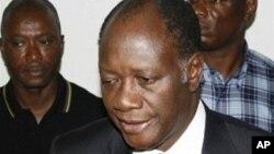 Le président Alassane Ouattara de la Côte d'Ivoire, 22 décembre 2010