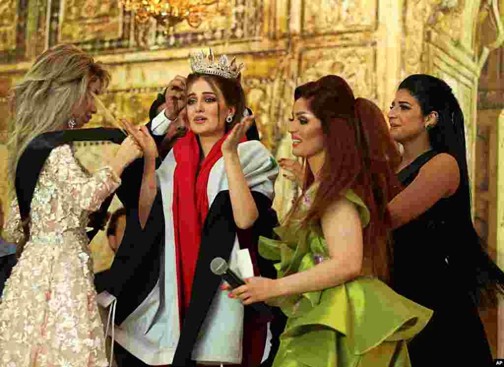 پیروزی «ویان سلمان» به عنوان دختر شایسته عراق در بغداد