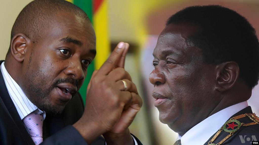 Nelson Chamisa et Emmerson Mnangagwa