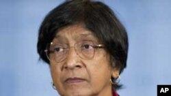 联合国人权事务高级专员纳薇·皮莱(资料照)