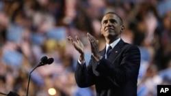 Obama usó su habitual don retórico en la Convención del Partido Demócrata.