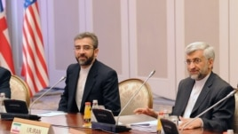 Iran's representatives led by their top nuclear negotiator Saeed Jalili (R) take part in talks with top officials from the United States, Britain, France, EU, China, Germany and Russia on Iran's nuclear program in the Kazakh city of Almaty, April 5, 2013.