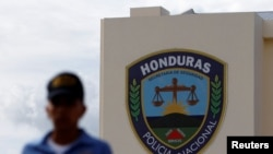The Honduran National Police headquarters is seen in Tegucigalpa, Honduras, July 4, 2016.