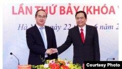 Ông Trần Thanh Mẫn vừa trở thành chủ tịch mới của Mặt Trận Tổ Quốc Việt Nam. (Ảnh chụp từ màn hình trang web của Zing News)