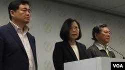 台灣執政黨最近的'九合一'地方選舉失敗﹐總統蔡英文表示將一肩扛起敗選責任(資料照片)
