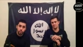 Men claiming to be from an Islamist militant group identifying itself as Vilayat Dagestan speak, in this still image taken from video posted on the Internet on Jan. 20, 2014.