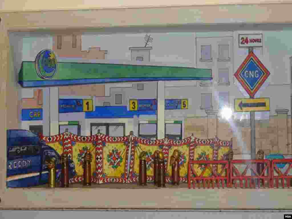 کراچی شہر میں کہانیاں سناتے مصوری کے شاہکار
