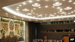 안건을 토의하는 유엔 안전보장이사회(자료사진)