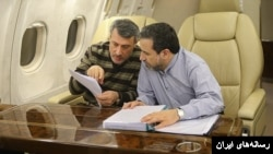 حمید بعیدی نژاد(سمت چپ) در کنار عباس عراقچی. او سفیر ایران در چین شد.