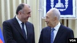 Azərbaycan xarici işlər naziri Elmar Məmmədyarovun İsrail prezidenti Şimon Pereslə görüşü
