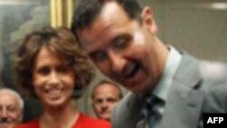 Sirijski predsednik Bašar al-Asad i njegova supruga Asma