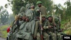剛果政府軍在巡邏