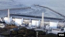 Komplek PLTN Fukushima di Jepang yang mengalami kerusakan akibat bencana gempa dan tsunami.