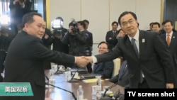 VOA连线(黄耀毅):白宫回应韩朝官员会谈