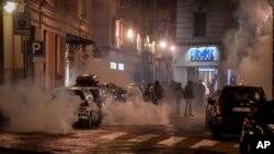 Virus Italy Outbreak Protest