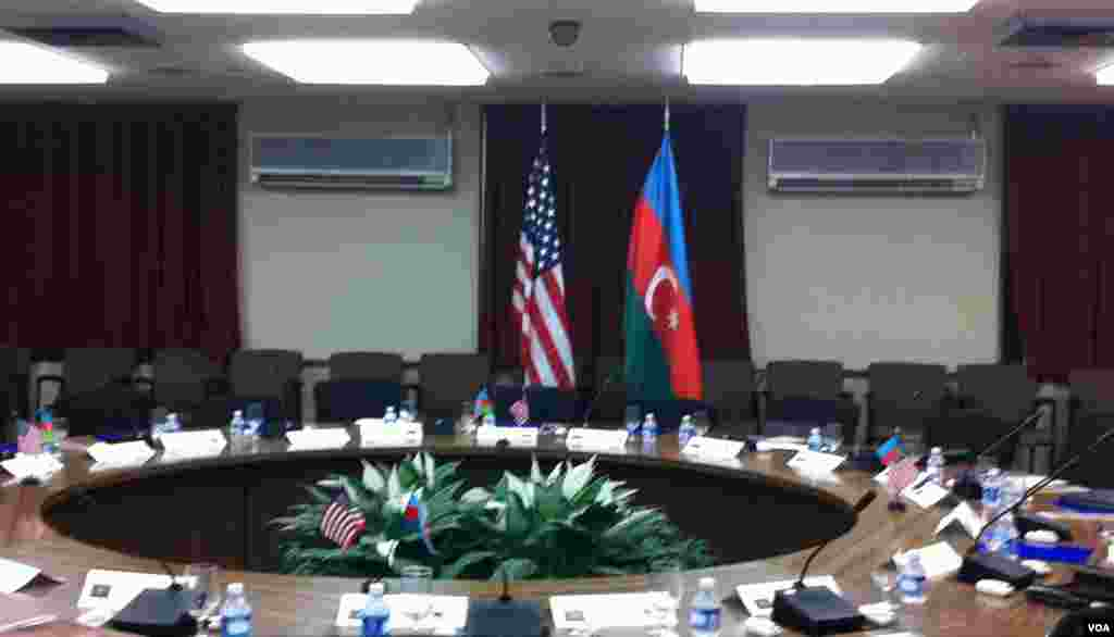 US-Azerbaijan Flags