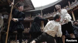 Shakespeare's plays are performed at the Globe Theater in London.