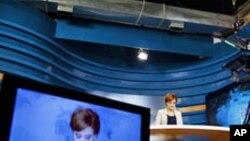 Aspecto de um estúdio de televisão