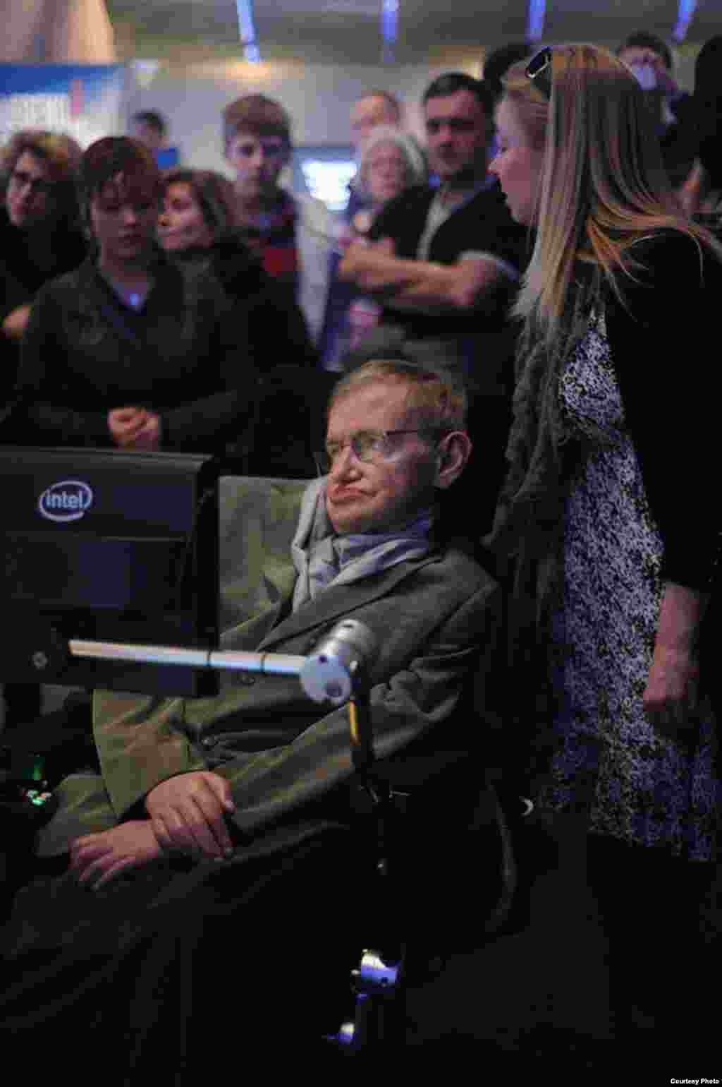 Stephen Hawking visits the London Science Museum's exhibit on his life and work. (Sarah Lee)