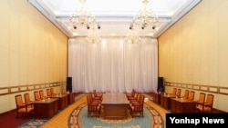 南北韓原定星期三在首爾舉行政府部長級會議的會場