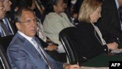 Сергей Лавров и Хиллари Клинтон (архивное фото)