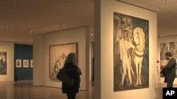 مشہور مصور ڈیاگو رویرا کے فن پاروں کی نمائش