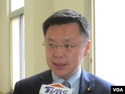 台湾执政党民进党立委赵天麟(美国之音张永泰拍摄)