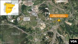 Santiago de Compostela, train crash site