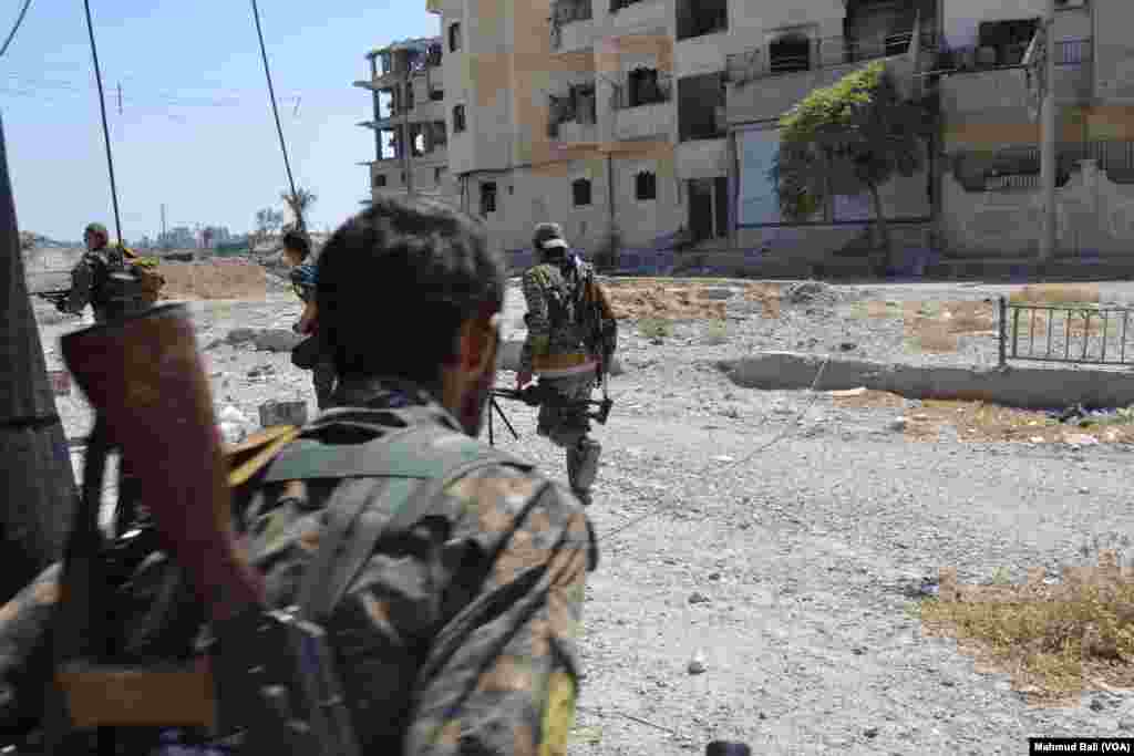 SDF Fighters in Raqqa