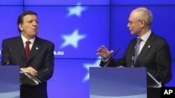 Predsednici Evropske komisije i Evropskog saveta, Žoze Manuel Barozo i Herman van Rompuj