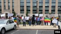 VOA-Ethiopian Protest