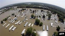 Затопленные дома в Мемфисе.