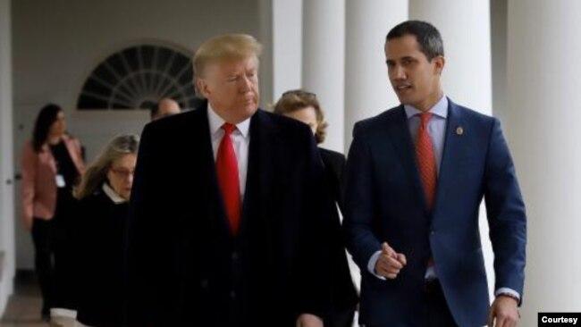 Donald Trump Juan Guaido'yu 5 Şubat'ta Beyaz Saray'da ağırlamıştı.