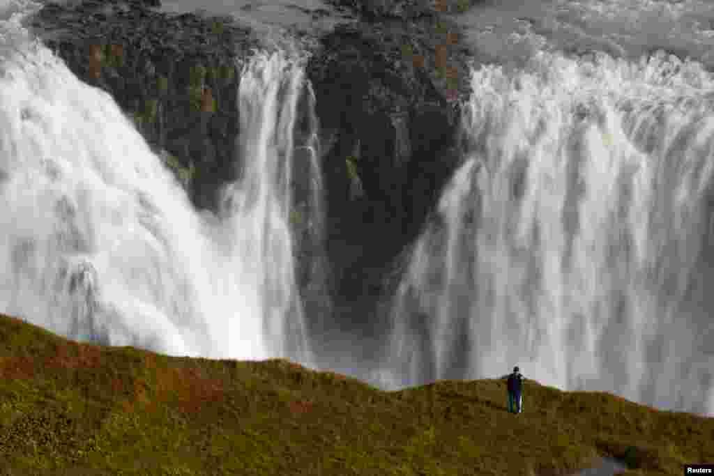 İslandiya - Gullfoss şəlaləsi