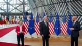 美国与欧盟领导人2021年6月15日在布鲁塞尔举行峰会(路透社)