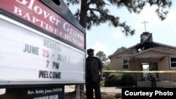 Kebakaran di Gereja Baptis Glover Grover di Warrenville, South Carolina (26/6), sedang diselidiki.