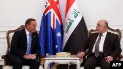 Thủ tướng Australia Tony Abbott và Thủ tướng Iraq Haider al-Abadi tại Baghdad, ngày 4/1/2015.