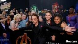 "El actor Robert Downey Jr. llega a la premiere mundial de ""Avengers: Infinity War"" en Los Angeles, California. 23/4/18."